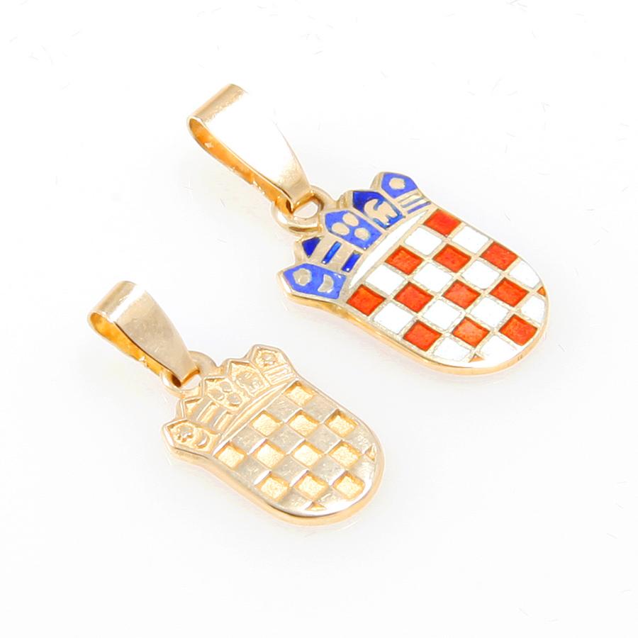 Gold Pendants Croatian Coat Of Arms