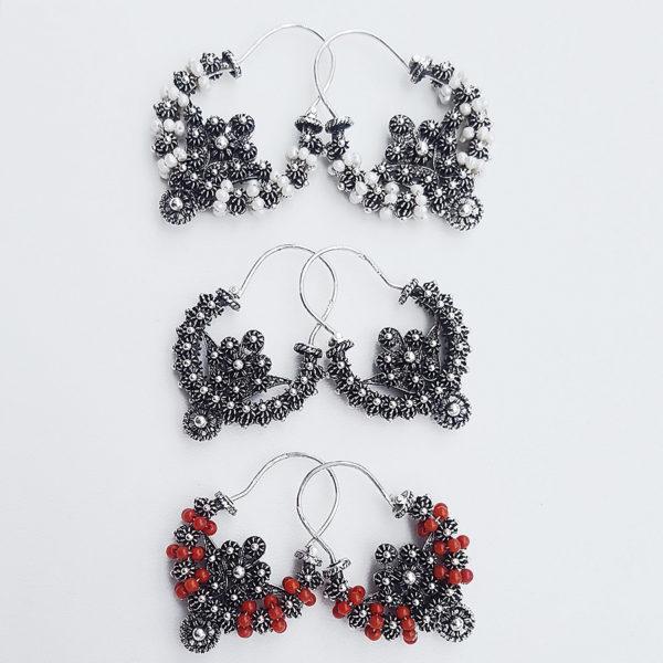 silver Split earrings