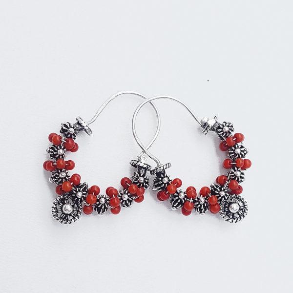 dalmatian earrings corals