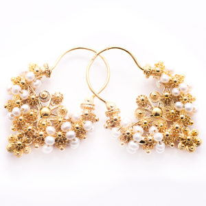 gold croatian earrings