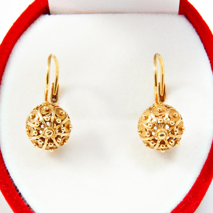 Gold Earrings Sibenik Buttons Jewelry Jozef Gjoni
